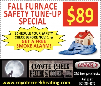 Ads For Coyote Creek Heating And Cooling in Southern Minn