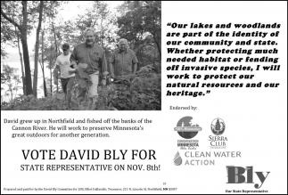Vote David Bly for State Representative on nov. 8th!