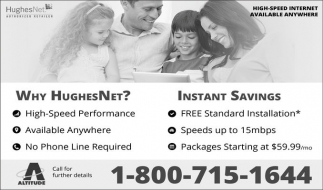 Ads For Hughes Net in Southern Minn