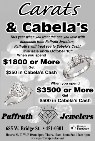 Carats and Cabela's