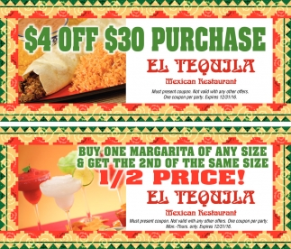 Ads For El Tequila Mexican Restaurant In Owatonna Mn