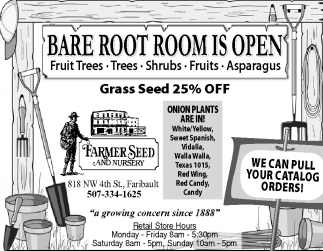 BARE ROOT ROOM IS OPEN