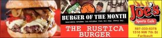 THE RUSTICA BURGER