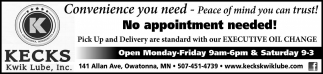No appointment needed