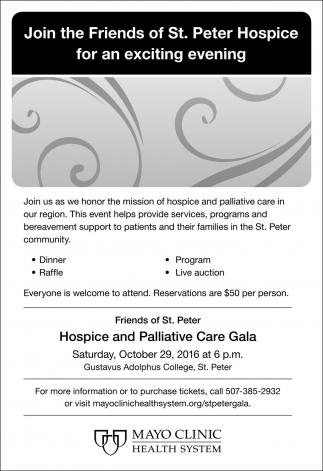 Join the Friends of St, Peter Hospice