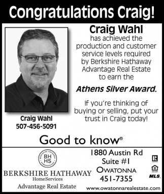 Congratulations Craig!