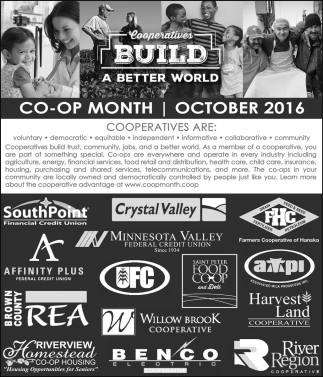 Cooperatives Build a better workd