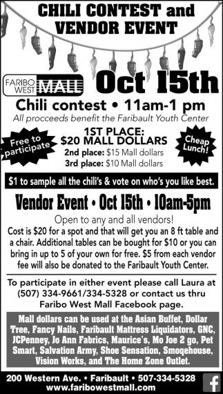 Chili Contest and Vendor Event