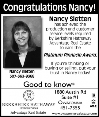 Congratulations Nancy!