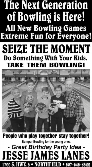 Great Birthday Party Idea Jesse James Lanes Northfield MN