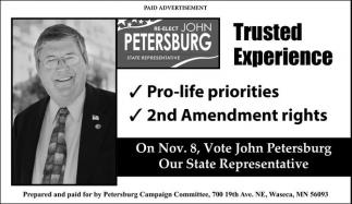 Re-Elect John Petersburg State Representative
