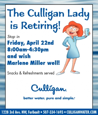 The Culligan Lady is Retiring!