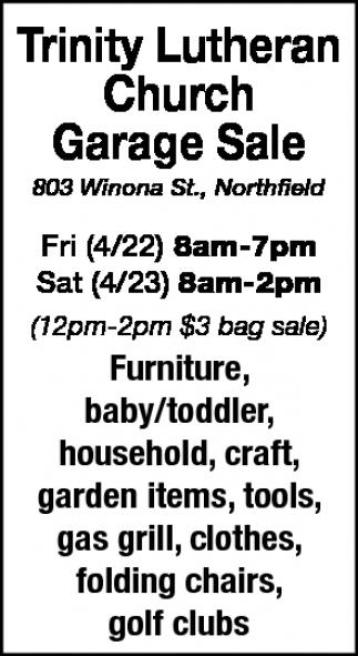 Garage Sale, Trinity Lutheran Church , Northfield, MN