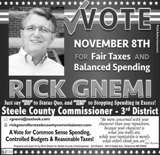 Steele County Commissioner - 3rd District