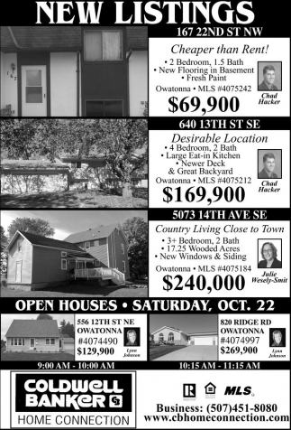NEW LISTINGS - OPEN HOUSE