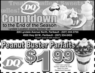 Peanut Buster Parfaits $1.99