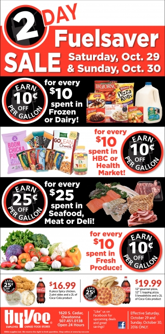 2 Day Fuelsaver Sale