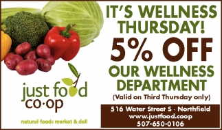 IT'S WELLNESS THURSDAY! 5% OFF