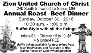 Annual Roast Beef Dinner