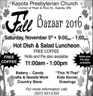 Fall Bazaar 2016