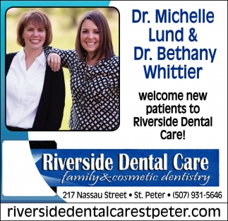 Family and cosmetic dentistry, Riverside Dental Care, Saint Peter, MN