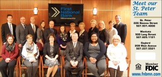 Meet our St. Peter Team, First National Bank Of Minnesota, Mankato, MN