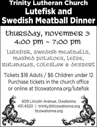 Swedish Meatball Dinner