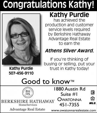 Congratulations Kathy