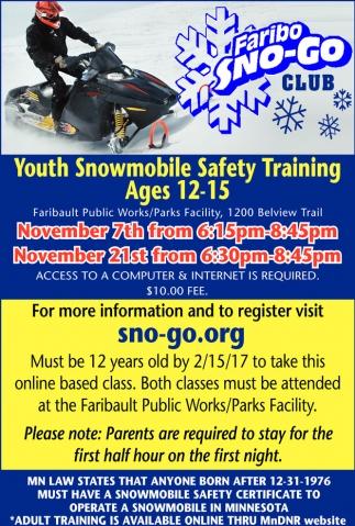 Snowmobile Training
