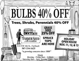 BULBS 40% OFF