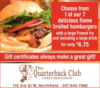 Gift Certificates always make a great gift