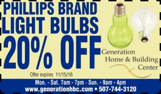Light Bulbs 20% Off