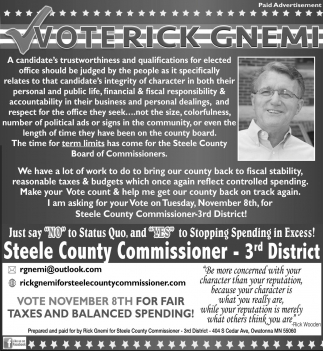 Steele County Commissioner 3rd District