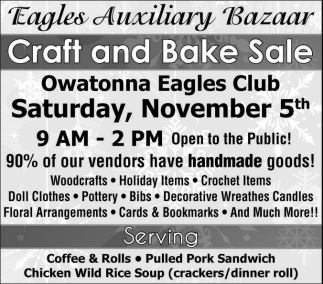 Craft and Bake Sale