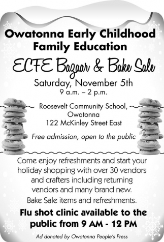 ECFE Bazaar and Bake Sale