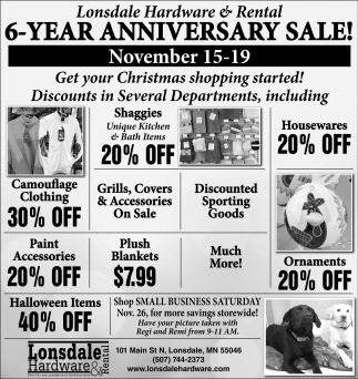 6 Year Anniversary Sale