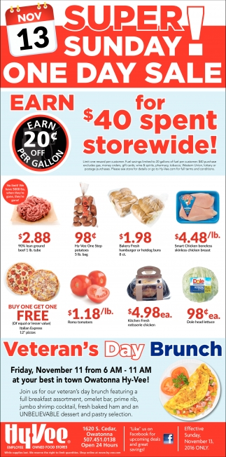 Super Sunday One Day Sale