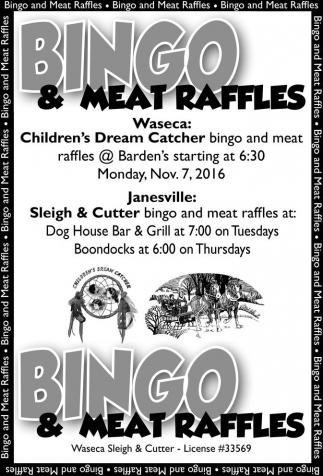 Bingo and Meat Raffles