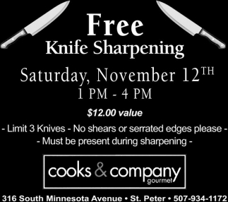 Free Knife Sharpening