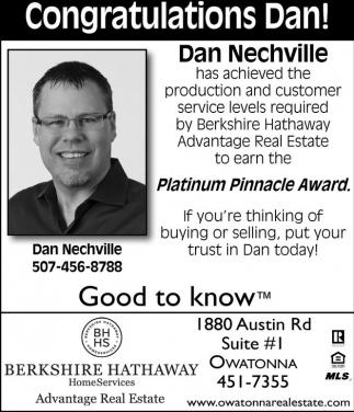 Congratulations Dan