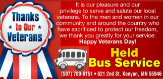 Thanks to Our Veterans