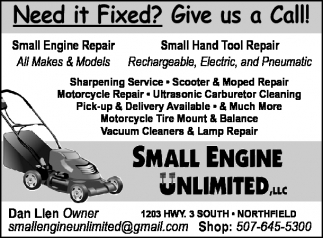 Need it Fixed? Give us a Call!