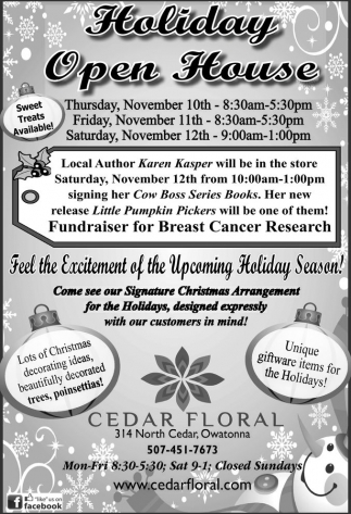 Ads For Cedar Floral in Southern Minn