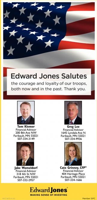 Edward Jones Salutes