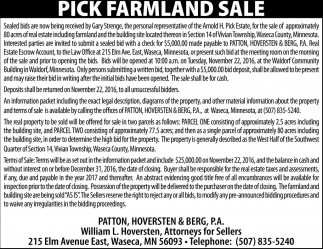 Pick Farmland Sale