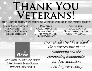 Thank You Veterans, Itron