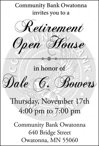 Retirement Open House