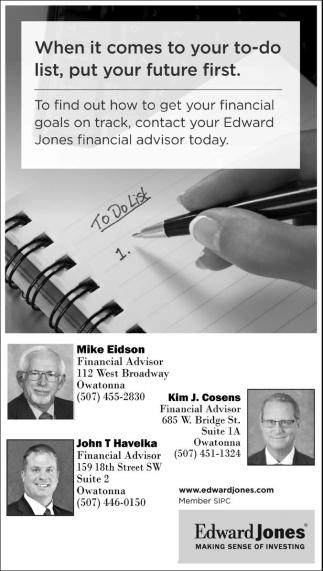 Contact your Edward Jones financial advisor today