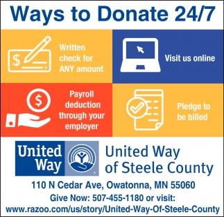 Ways to Donate 24/7
