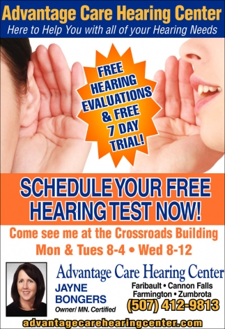 Free Hearing Evaluations and Free 7 Day Trial!